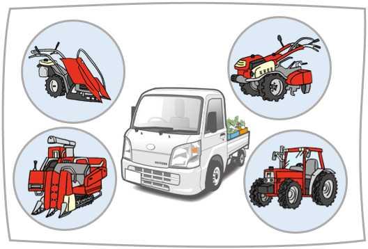 農業で役立つ運転免許