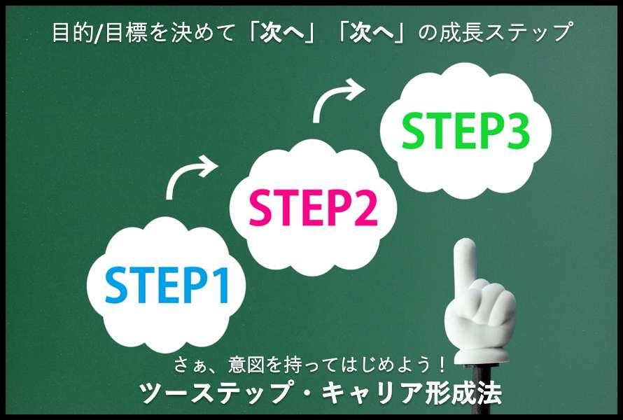 ツーステップ・キャリア形成法のイメージ図